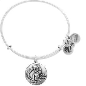 Alex & Ani Aquarius Charm Bangle Rafaelian Silver